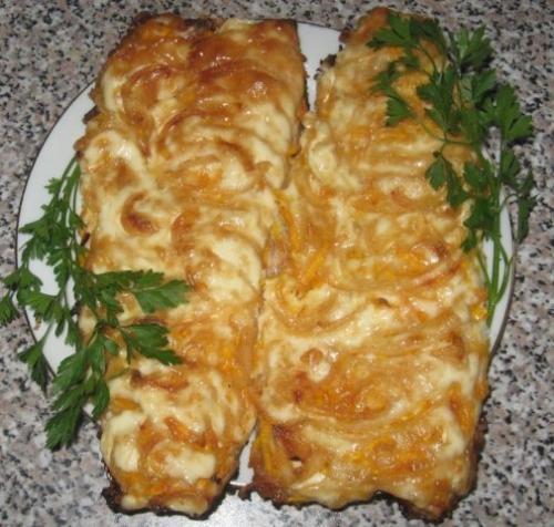 """...блюда  """" Блюда из рыбы  """" Рыба с картошкой в духовке.  Рецепт с фото."""